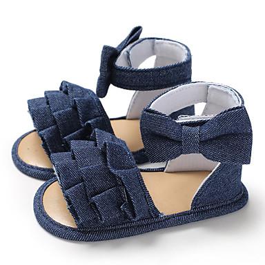 preiswerte Shoes Trends-Mädchen Lauflern Leinwand Sandalen Kleinkinder (0-9 m) / Kleinkind (9m-4ys) Weiß / Dunkelblau / Rosa Sommer