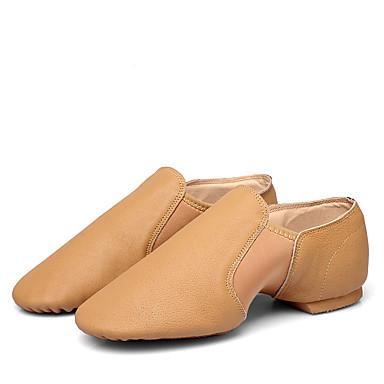 billige Utvalgte tilbud-Dame Dansesko Saueskinn Jazz-sko Flate Flat hæl Svart / Brun / Trening / Ytelse