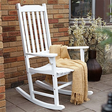 Remarkable 255 14 Indoor Outdoor Patio Porch White Slat Rocking Chair Creativecarmelina Interior Chair Design Creativecarmelinacom