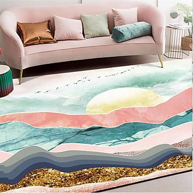 שטח שטיחים מודרני זמש מלאכותי / polyster, מלבן איכות מעולה שָׁטִיחַ
