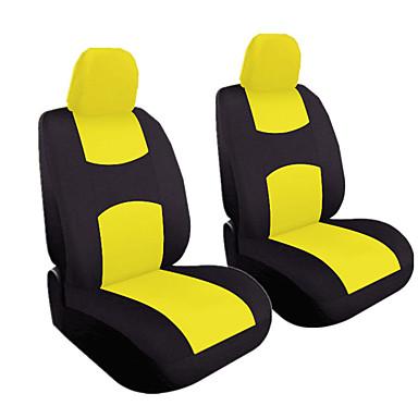 voordelige Auto-interieur accessoires-4 stks / set universele auto voor zitkussen cover hoofd kussenhoes ademend doek seat cover pad set
