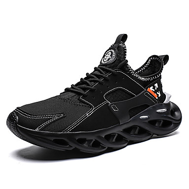 Men's Novelty Shoes Mesh / Tissage Volant Spring & Summer / Fall & Winter Sporty / Classic Athletic Shoes Running Shoes Breathable Black / White / Red