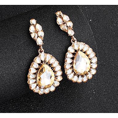 בגדי ריקוד נשים עגילי טיפה ארופאי אופנתי עגילים תכשיטים זהב / כסף עבור חתונה יומי זוג 1