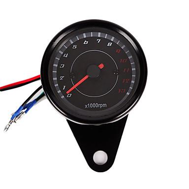 billige Motorsykkel & ATV tilbehør-dc 12v motorsykkel tachometer modifisert led digital display motorsykkel gauge