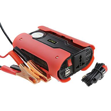 אדום 500W כוח מהפך חשמל dc12-ac220v / 110v עם 2 USB ו שקע אוניברסלי שונה גל סינוס כוח מהפך