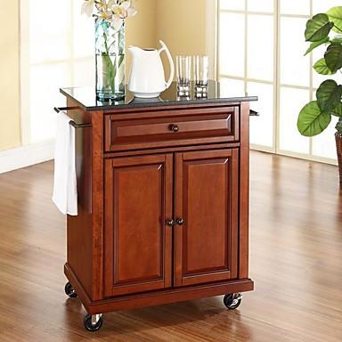 Stupendous 458 84 Cherry Portable Kitchen Island Cart W Granite Top Locking Wheels Download Free Architecture Designs Scobabritishbridgeorg