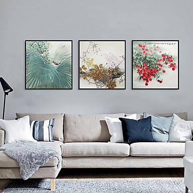 דפוס אומנות ממוסגרת סט ממוסגר - פרחוני / בוטני פוליסטירן תצלום וול ארט