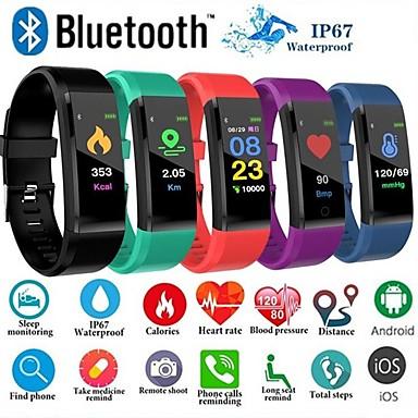preiswerte Intelligente Elektronik-Id115 plus Farbe Bildschirm Smart Armband Sport Schrittzähler Uhr Fitness Laufen Walking Tracker Herzfrequenz Schrittzähler Smart Band