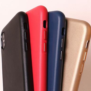 povoljno iPhone maske-Θήκη Za Apple iPhone XS Max / iPhone 6 Otporno na trešnju Stražnja maska Jednobojni Tvrdo prava koža za iPhone XS / iPhone XR / iPhone XS Max