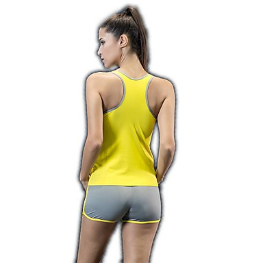 בגדי ריקוד נשים יוגה למעלה צבע אחיד אלסטיין יוגה ריצה כושר וספורט צמרות לבוש אקטיבי ייבוש מהיר תומך זיעה גמישות גבוהה
