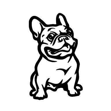 האופנה צרפתית בולדוג כלב קישוט רכב