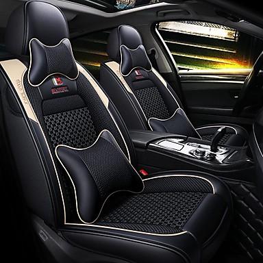 levne Doplňky do interiéru-5 sedadel karoserie autosedačky se dvěma polštáři a dvěma pasovými polštářky / pu kožený ledový hedvábný materiál / kompatibilita airbagů / nastavitelný a odnímatelný / čtyři roční období univerzální