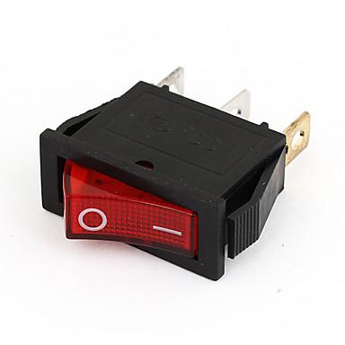 preiswerte Autoteile-Wechselstrom 15A / 250V 20A / 125V 3-poliges rotes Licht leuchtet 2-fach auf