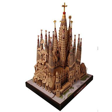 levne 3D puzzle-3D puzzle Papírové modely Modele Slavné stavby Kostel Udělej si sám Simulace lepenkový papír Klasické Dětské Unisex Chlapecké Hračky Dárek