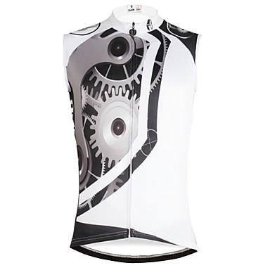 ILPALADINO Ανδρικά Αμάνικο Φανέλα ποδηλασίας Λευκό Gear Ποδήλατο Γιλέκο Αθλητική μπλούζα Αμάνικη Μπλούζα Ποδηλασία Βουνού Ποδηλασία Δρόμου Γρήγορο Στέγνωμα Αθλητισμός / Ελαστικό