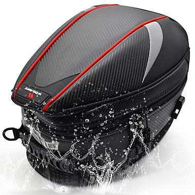 voordelige Auto-interieur accessoires-wosawe motortas bagage zadeltank moto tail bag achterbank motortas schoudertas lichtgewicht waterdichte reflecterende hoge zichtbaarheid