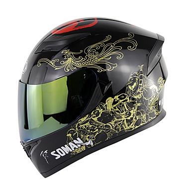 אופנוע קסדה גברים מלא קסדה פנים מוטו רכיבה על אופניים ABS חומר קסדה מוטוקרוס