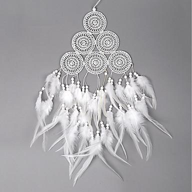 לוכד חלומות - עור בוהמיה 1 pcs קישוט קיר