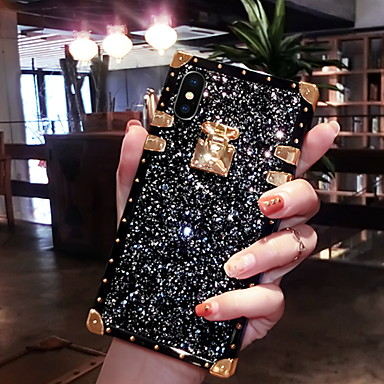 cheap iPhone Cases-Case For Apple iPhone XS / iPhone XR / iPhone XS Max Glitter Shine Back Cover Glitter Shine Soft Silicone