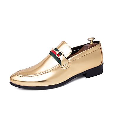 Ανδρικά Νεωτεριστικά παπούτσια Φο Δέρμα Ανοιξη καλοκαίρι Καθημερινό / Βρετανικό Μοκασίνια & Ευκολόφορετα Μη ολίσθηση Μαύρο / Χρυσό / Κόκκινο / Πάρτι & Βραδινή Έξοδος / Πάρτι & Βραδινή Έξοδος