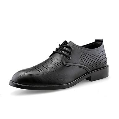 בגדי ריקוד גברים נעליים פורמליות PU אביב קיץ / סתיו חורף עסקים / יום יומי נעלי אוקספורד נושם שחור