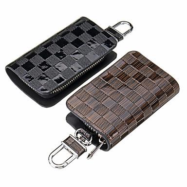 levne Doplňky do interiéru-univerzální kožené pouzdro na klíče od auta / taška na zip organizér kontrola ochranného krytu mřížky