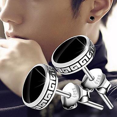 povoljno Modne naušnice-Muškarci Sitne naušnice Magic Back Earring Vintage Style Vintage Rock Glina Naušnice Jewelry Crn Za Dnevno Ulica 1 par