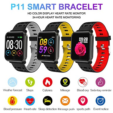 P11 Smart Watch Bt Fitness Tracker Support Notify Heart Rate