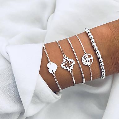 voordelige Dames Sieraden-Dames Sierstenen Hart leven Boom Europees Modieus Legering Armband sieraden Zilver Voor Dagelijks Feestdagen