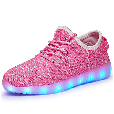 cheap Kids' Athletic shoes-Boys' LED / LED Shoes / USB Charging Tulle Trainers / Athletic Shoes Flashing Shoes Little Kids(4-7ys) / Big Kids(7years +) Walking Shoes LED / Luminous Black / Pink / Green Fall / Rubber / EU37