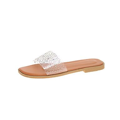 voordelige Damespantoffels & slippers-Dames Slippers & Flip-Flops Platte hak PU Zomer Groen / Blauw / Roze