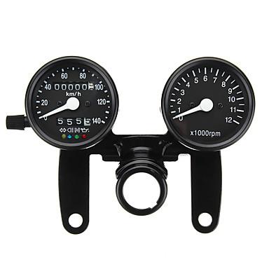 billige Automotiv-12v motorsykkel ledet bakgrunnsbelysning kilometerteller turteller speedometer dual gauge meter med brakett for universal