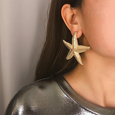 בגדי ריקוד נשים עגיל עגילים תכשיטים זהב / כסף עבור Party יוֹם הַשָׁנָה יומי חגים פֶסטִיבָל זוג 1