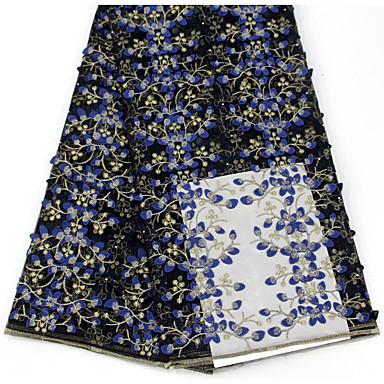 povoljno Oprema za zabavu-Čipka Cvjetnih Uzorak 130 cm širina tkanina za Posebne prilike prodan od 5Yard