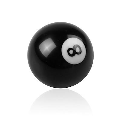 billige Interiørtilbehør til bilen-kreativ svart 8 ball shift knob for manuell gir shifter universell bil