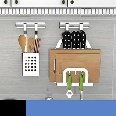 preiswerte Netze & Halter-Gute Qualität mit Edelstahl Schrankzubehör Für Kochutensilien Küche Lager 2 pcs
