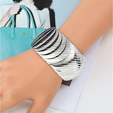 voordelige Herensieraden-Heren Dames Armband Gevlochten Lach Gelukkig Casual / Sporty Modieus Legering Armband sieraden Goud / Zilver / Regenboog Voor Lahja Dagelijks