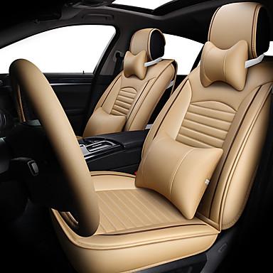 billige Interiørtilbehør til bilen-bilsete deksel nye fire sesonger generell lær lær komfortabel pustende setepute / fem seter / generelle motorer setetrekk