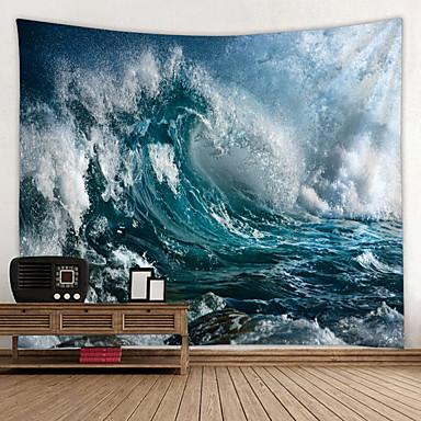 נושא חוף קיר תפאורה 100% פוליאסטר קלסי / ים- תיכוני וול ארט, קיר שטיחי קיר תַפאוּרָה