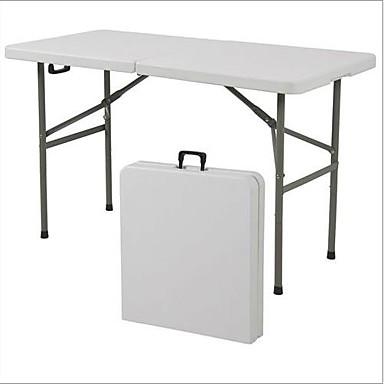 Attraktiva Multifunktionellt 4-fots mitt hopfällbart bord med bärhandtag WI-51