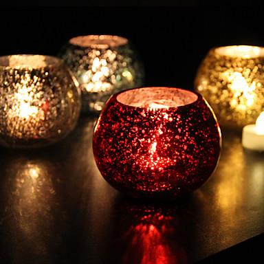 נושא קלאסי מצדדים נרות - 1 pcs פמוטים קופסאת מתנה כל העונות