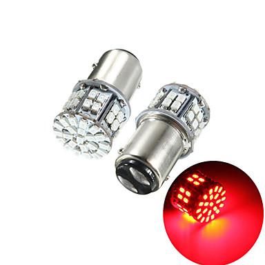cheap Car Brake Lights-Pack of 2 Super Bright BAY15D 1157 50SMD 1206 LED Car Brake Light DC 12V 50 LEDs Auto Rear Tail Lights Red Turn Signal Lamps Bulb