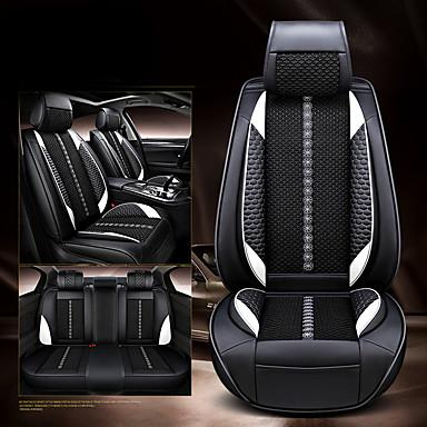 voordelige Auto-interieur accessoires-Auto-stoelhoezen Hoofdsteun en taille kussensets Beige / Koffie / Blauw Leder Sport Voor Universeel