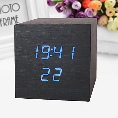 שעון מעורר דיגיטלי פלסטיק LED 1 pcs