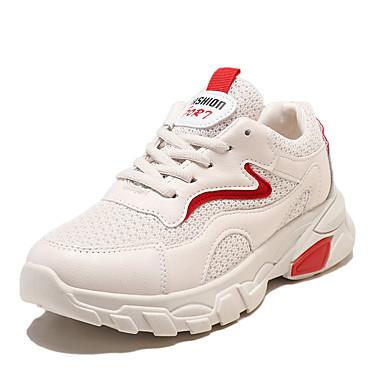בגדי ריקוד נשים נעלי ספורט מטפסים עור / רשת אביב קיץ כחול / אדום כהה