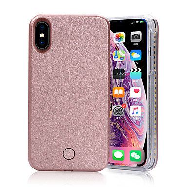 cheap iPhone Cases-Creative Phone Case With Selfie LED Light For iPhone X/XS/XR/XS MAX /7/7s/8/8s Plus Outdoor Party Yellow Color Gift