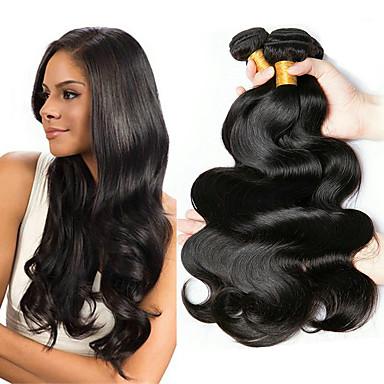 6 צרורות שיער ברזיאלי Body Wave 100% רמי שיער לארוג חבילות טווה שיער אדם שיער Bundle פתרון חפיסה אחת 8-28 אִינְטשׁ צבע טבעי שוזרת שיער אנושי ללא ריח נשים עבה תוספות שיער אדם