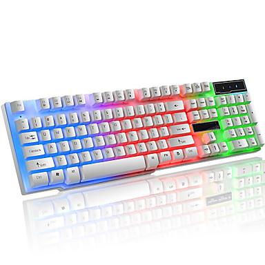 cheap Keyboards-LITBest K6 USB Wired Gaming Keyboard Gaming Waterproof Multicolor Backlit 104 pcs Keys