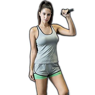 בגדי ריקוד נשים מכנסי יוגה חזיית ספורט בגדי גוף אמנותיים להתעמלות אלסטיין מכנסיים קצרים לבוש אקטיבי תומך זיעה באט הרם