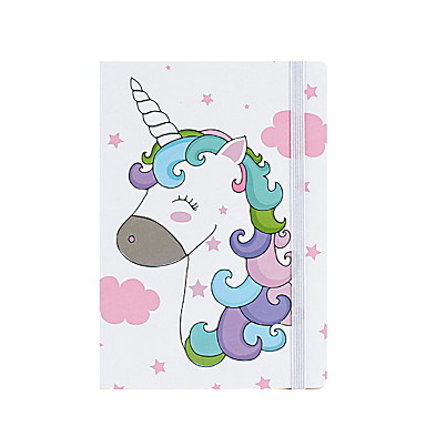 cheap Stationery Supplies-Novelty Paper Unicorn Pattern Coil Book / Note Book Notepad For School Office Stationery A7